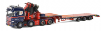 WSI Stephen Dixen  Scania R Streamline Highline Semi Low loader + Fassi 1300 + Jib
